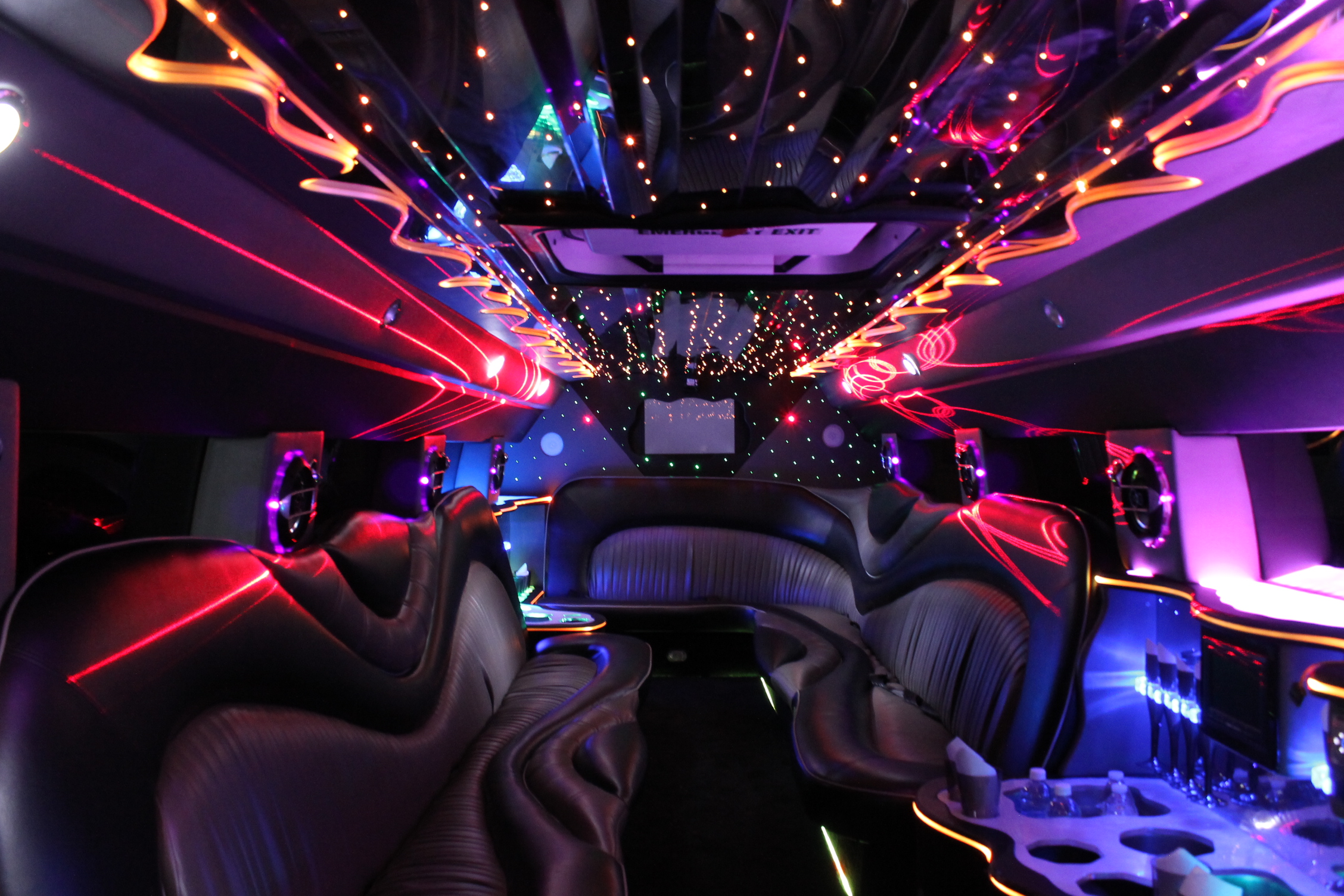Raleigh limousine interior