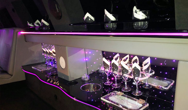 Aspen SUV Stretch Limo Bar | Raleigh Dream Limo Service
