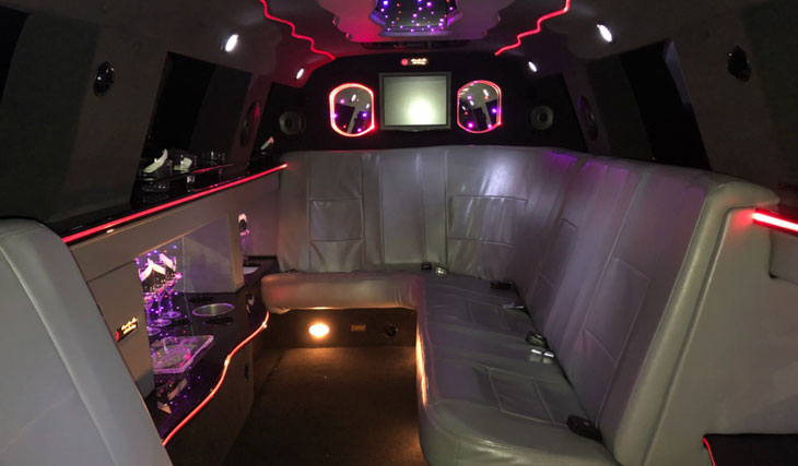 Aspen SUV Stretch Limo Interior Lighting | Raleigh Dream Limo Service