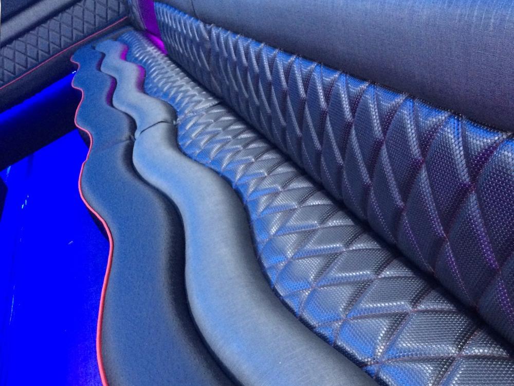 Party bus interior seats