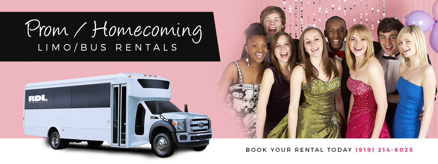 Raleigh limousines for Prom